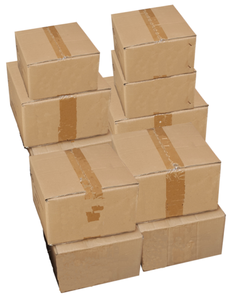 Cartons de déménagement empilés les uns sur les autres